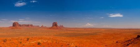 Beautiful panorama of the Monument Valley navajo tribal park, Utah, USA