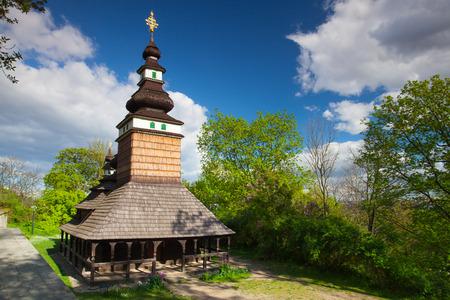 Orthodox Church of St.Michael on Petrin Hill in Prague Stock Photo