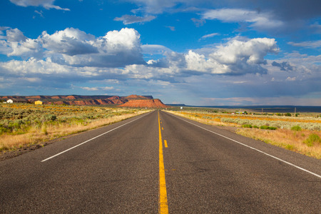 Long empty highway road,Arizona, USA