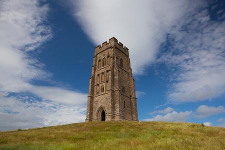The historic Glastonbury Tor in Somerset, England, United Kingdom (UK) Stock Photo