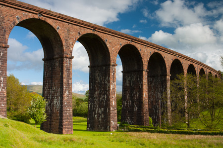 dales: Lowgill Viaduct in Yorkshire Dales National Park, England