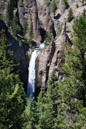 lower yellowstone falls: Keplar cascades in Yellowstone National Park, Wyoming, USA.