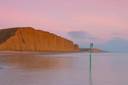 olivia: Popular beach near Bridport, Dorset, England, United Kingdom. Used for TV show Broadchurch starring David Tennant and Olivia Colman. Stock Photo