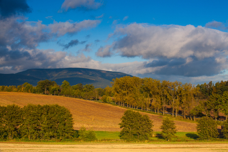 krkonose: Beautiful autumn landscape of Krkonose mountains, Czech Republic