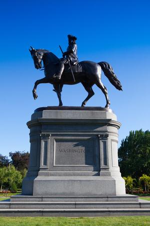 george washington statue: Boston, Massachusetts,USA - July 2,2016: George Washington Statue at Boston Public Garden, Boston, Massachusetts, USA.The Public Garden founded 1837.