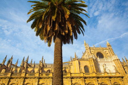 third world: Seville Cathedral. Spain. It is the largest Gothic cathedral and the third-largest church in the world. Stock Photo