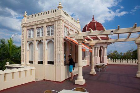 Cienfuegos, Cuba - January 28, 2017: Beautiful Palacio de Valle in Cienfuegos,Cuba.Palacio de Valle is an architectural jewel located in the Punta Gorda, reminiscent of Spanish-Moorish art Gothic,Baroque...