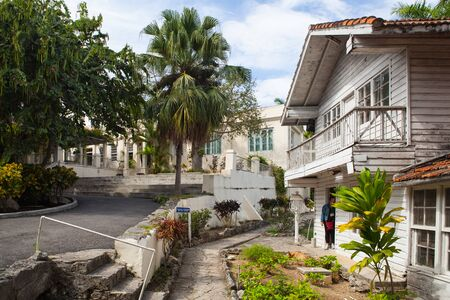 to paula: Havana, Cuba - February 2,2017: House Finca Vigia where Ernest Hemingway lived from 1939 to 1960.From the back veranda and the adjacent tower one has an excellent view of downtown Havana.