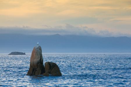 Sunset on Con Negro coast, Galicia, Spain Reklamní fotografie