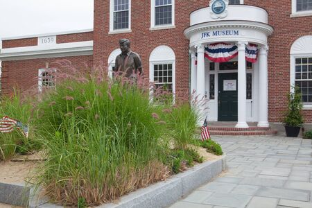 Boston, Massachusetts, USA  - July 12,2016:  The John F. Kennedy Hyannis Museum is a historical museum located at 397 Main Street Hyannis, Massachusetts.