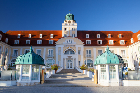 Binz, Germany - September 26,2015: Hotel Travel Charme Kurhaus Binz. Kurhaus Binz has been the top address for excellent hospitality on this Baltic island for more than 100 years.