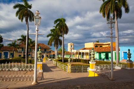 Plaza Mayor -Principal square of Trinidad. One of UNESCOs World Heritage sites since 1988. Sancti Spiritus Province, Cuba.