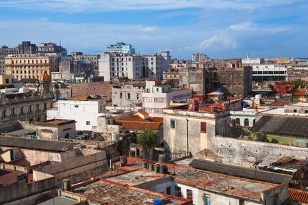 Top view of the roofs and buildings of Old Havana,Cuba Reklamní fotografie