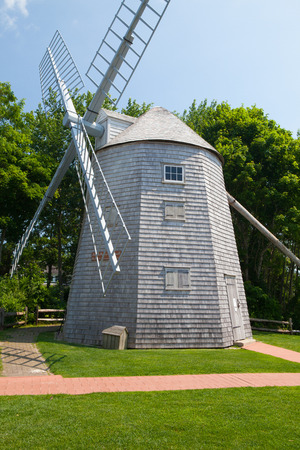 The Judah Baker Windmill. It is an 18th century windmill in South Yarmouth, Massachusetts, USA Stock Photo