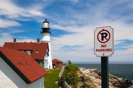 岬エリザベス、メイン、米国: 2016 年 7 月 6 日: ケープ ・ エリザベス (ポートランド郊外)、ポートランド ヘッド ライト (灯台) メイン。フォート ウ