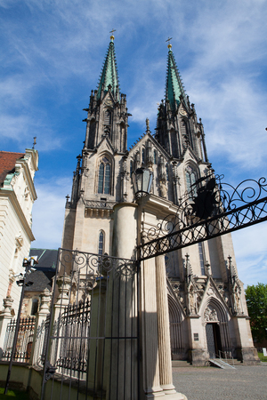 Cathedral of Saint Wenceslas, Olomouc, Czech Republic  Czechia, Central Europe Stock Photo