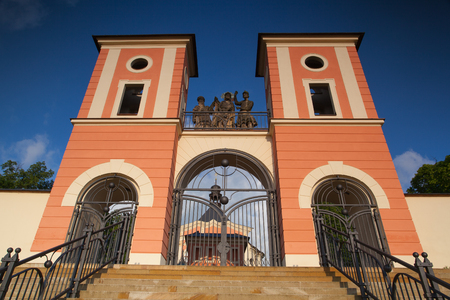 Renovated pilgrimage church in Jaromerice u Jevicka