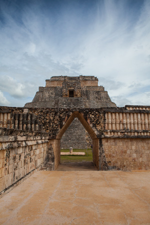 Majestic ruins in Uxmal,Mexico. Uxmal is an ancient Maya city of the classical period in present-day Mexico.