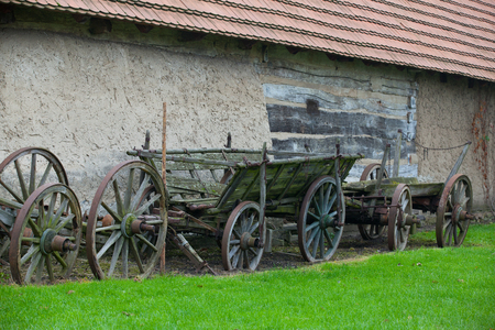 The typical historic wooden carriage, Czech Republic
