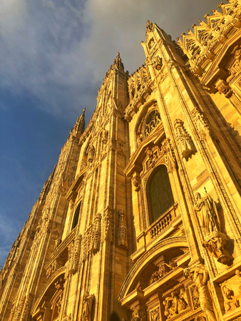 Duomo di Milano, Milan Cathedral is the cathedral church of Milan in Lombardy, northern Italy. Dedicated to St Mary of the Nativity, it is the seat of the Archbishop of Milan