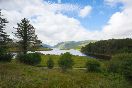 Glenveagh National Park, Ireland. Glenveagh National Park is one of Donegal's treasures. It can be found in the heart of Donegal and covers over 16,000 hectares making it the largest National Park in Ireland. Stockfoto