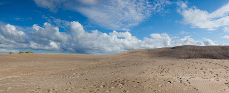 Rabjerg Mile is a migrating coastal dune between Skagen and Frederikshavn, Denmark. It is the largest moving dune in Northern Europe with an area of around 2 km and a height of 40 m above sea level. Фото со стока