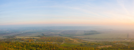 Evening scenery in Central Bohemian Uplands, Czech Republic. Natural monument. Panorama picture. Фото со стока