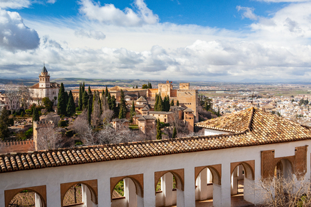The Alhambra is a palace and fortress complex located in Granada, Andalusia, Spain. It was originally constructed as a small fortress in AD 889 on the remains of Roman fortifications