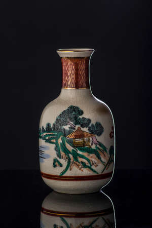 saki: Saki rice wine bottle from Japan Stock Photo