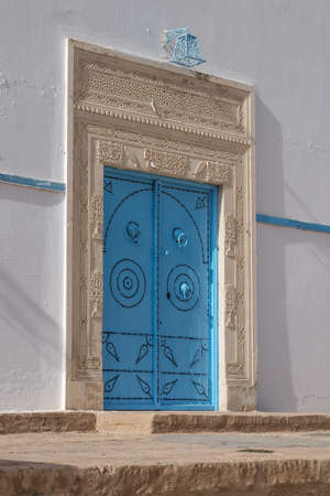 kairouan: A door in the souk at Kairouan Tunisia.