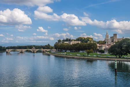 avignon: A view of Avignon from the bridge