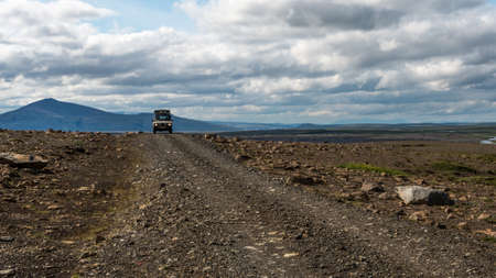 4x4: 4x4 drives the interior roads of Iceland Stock Photo