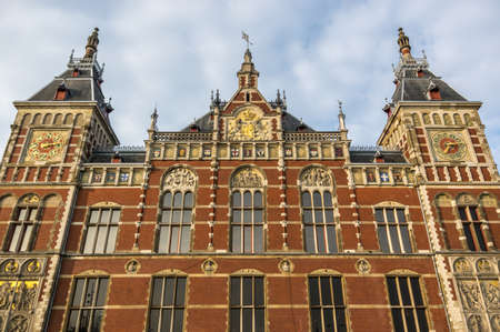 benelux: The facade of Grand Central Station in Amsterdam