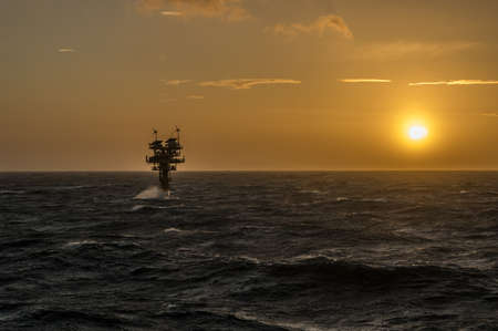 CARAVEL PLATFORM NORTH SEA  2 MARCH  Located in the Southern North Sea the Caravel is one of many unmanned platforms supplying gas to the UK mainland.  2 March 2015 in the North sea