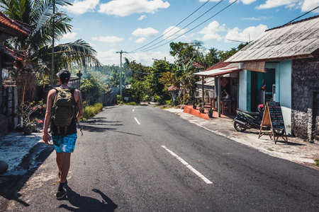 Tropical road at Uluwatu Stock Photo