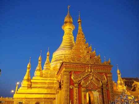 Myathalun Pagoda, a nice pagoda by Irrawaddy river, Magway Region, Myanmar