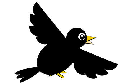 Funny crow Stock Vector - 17127887