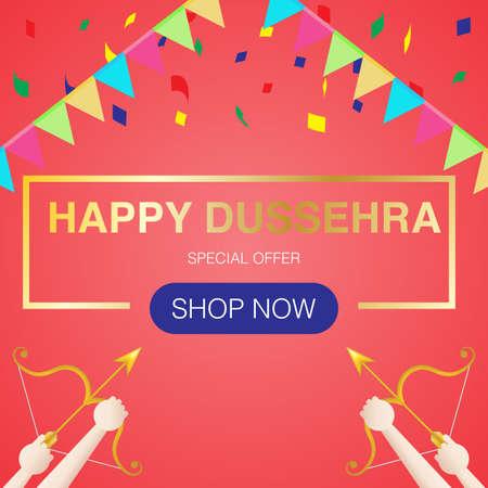 Happy dussehra concept. Vector. Use for banner, website, template, leaflet, brochure, poster and other design