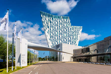 AC Bella Sky Marriott Hotel and Comwell Convention and Congress Center in the Orestad district of Copenhagen, Denmark.