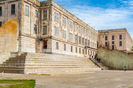 San Francisco, CA, USA - April 5, 2013: Main Cellhouse of former federal prison on Alcatraz Island in the San Francisco Bay, California, USA.
