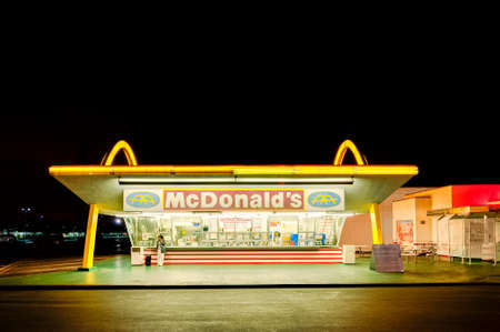Los Angeles, USA - March 31, 2013: The oldest operating McDonald's restaurant in the world in Downey, LA, California, USA. It was the third McDonald's restaurant, and opened on August 18, 1953.