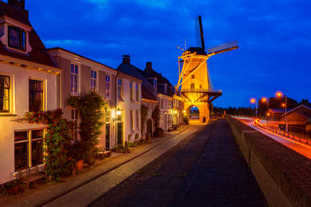 Windmill Rijn en Lek in Wijk bij Duurstede, Utrecht, Netherlands. It was built in 1659 and is the only Dutch windmill built on top of a city gate. Reklamní fotografie