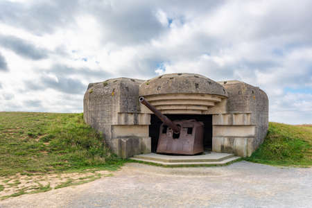 World War 2 German Defense battery in Longues sur Mer Normandy France