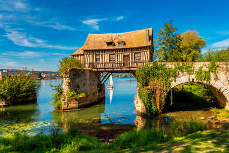 Old Timbered Water Mill in Vernon Normandy France