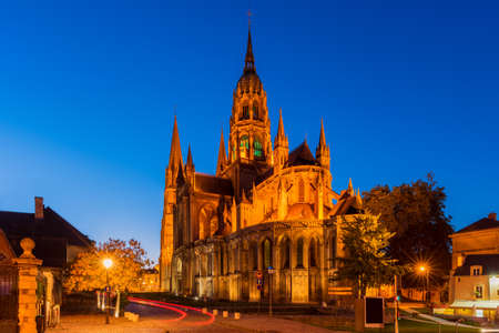 Cathedral of Bayeux Normandy France at Dusk