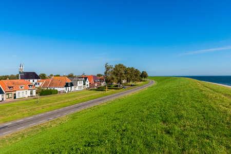 Village of Oudeschild on Dutch island Texel