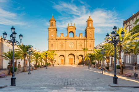 Cathedral of Santa Ana in Las Palmas de Gran Canaria, capital of Gran Canaria, Canary Islands, Spain. Construction started in 1500 and lasted for 4 centuries.