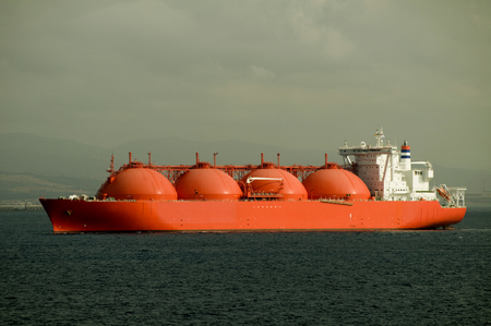 Gas tanker LNG - carrier ship designed for transporting natural gas