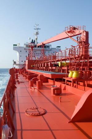 Tanker crude oil carrier ship designed for transporting grude oil sailing