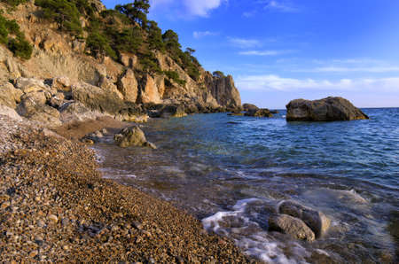 pacification: Beautiful, quiet bay on the Black Sea. Natural reserve on  Crimea.